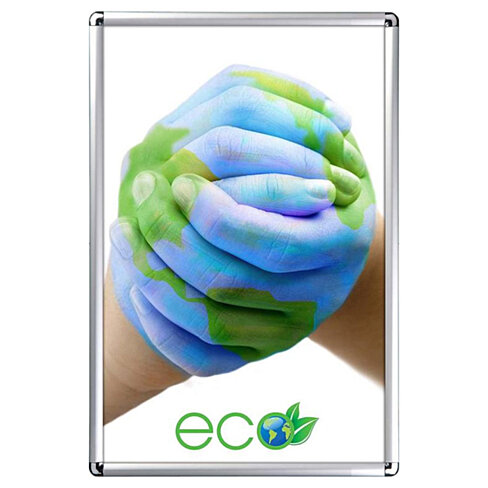 Buy Snap Frame 24 x 36 Poster Size 1 inch Silver Color ...