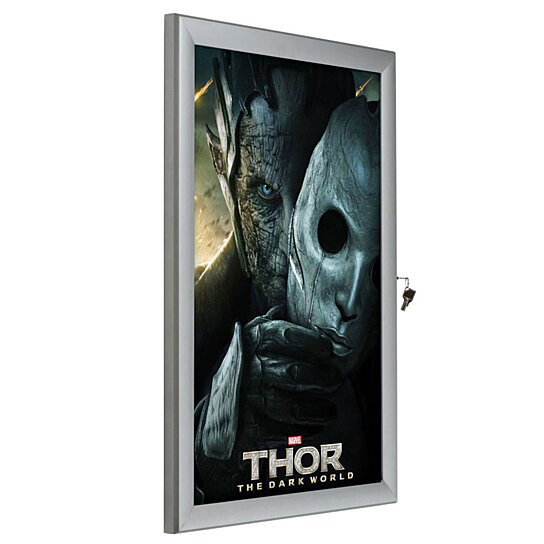 Buy Universal Poster Showboard 36W x 48H Poster Size Single Lock ...