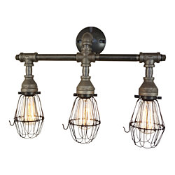Nelson Bathroom Vanity 3-Light Fixture With Wire Cages