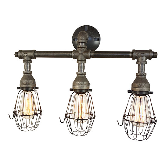 Nelson Bathroom Vanity 3 Light Fixture With Wire Cages