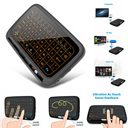 H18Plus 2.4GHz Mini Wireless Keyboard Touchpad with Backlight Function Air Mouse/134