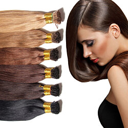 "18-24"" Keratin Fusion Stick Tip I-tip Pre-bonded Human Hair Extension"