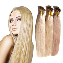 "18-24"" Keratin Fusion Stick Tip I-tip Pre-bonded Human Hair Extension 50g (0.5g/strand)"