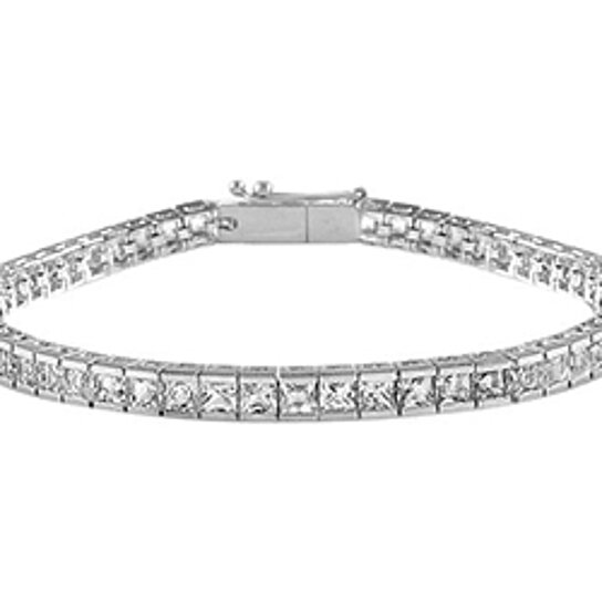 buy cz tennis bracelet princess cut aaa cz 5 carat tennis
