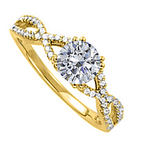 buy diamond criss cross shank engagement ring in 14k With decent priced wedding rings