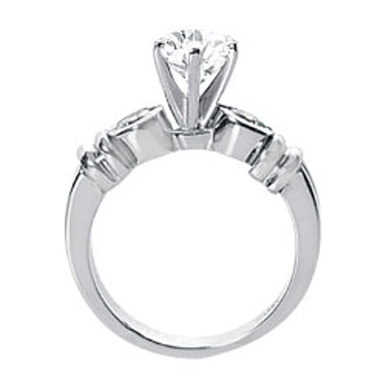 buy engagement ring in 14k white gold cubic zirconia