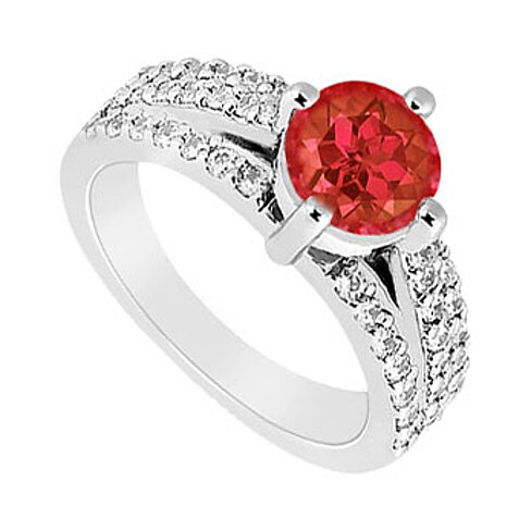 Buy July Birthstone Created Ruby Cz Engagement Ring With. Orange Wedding Rings. Sculpted Engagement Rings. Bow Wedding Rings. Extravagant Wedding Rings. Reverse Wedding Rings. Biker Rings. May Engagement Rings. Name Wedding Rings