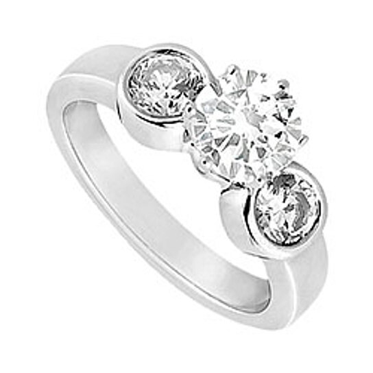 Buy Semi Mount Engagement Ring in 14K White Gold with 0 10 Ct Diamonds Not I