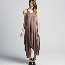 Asymmetrical Sleeveless Flowy Dress