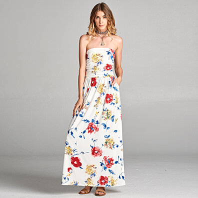 Atlantis Floral Maxi Dress (Plus)
