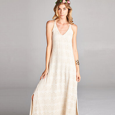 Chantilly Knit Lace Maxi Dress
