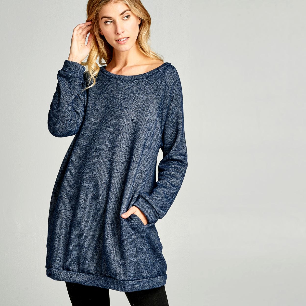 Chunky French Terry Sweatshirt Dress - Heather Black, Small (2-6) 59b9a62999336a468139cf20