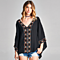 Embroidered Cotton Poncho