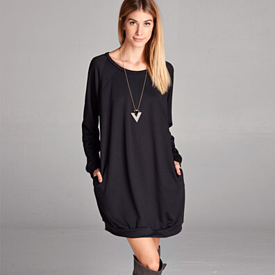 Classic Pocket Sweatshirt Dress