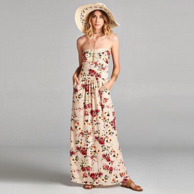 Atlantis Floral Maxi Dress