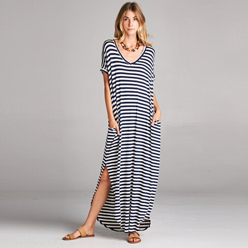 Classic Stripe Maxi Dress in 8 Colors