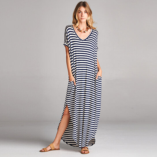 Buy Classic Stripe Maxi Dress in 8 Colors by Love Kuza Apparel on ...