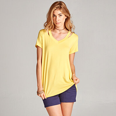 Super Soft Cutout Tee