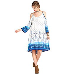 Paisley Border Rayon Dress