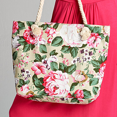 Rose Garden Canvas Tote Bag