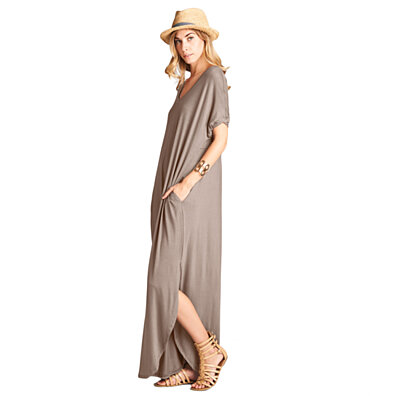 Classic Solid Maxi Dress in 6 Colors