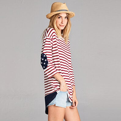 Stars and Stripes Rayon Patched Tunic