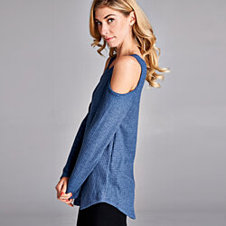 Cold Shoulder Tunic in 8 Colors