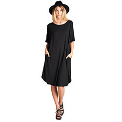 Relaxed Fit Solid Dress