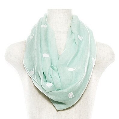 Whale Print Infinity Scarf