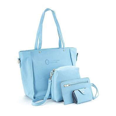 9eb88af7e7850 4 Piece: Women Handbag Shoulder Bag Leather Messenger Hobo Bag Satchel Purse  Tote