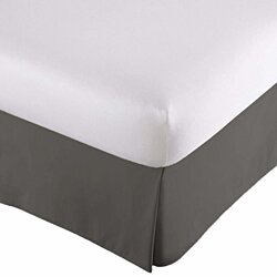 Bed Skirt Long Staple  100% Fiber Finest Quality  - Durable, Comfortable, Abrasion Resistant & Quadruple Pleated