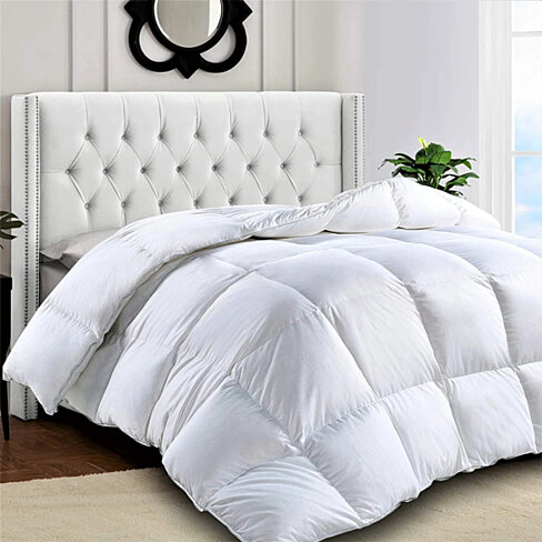 Down Alternative Hypoallergenic Microfiber Comforter Duvet Insert (Grey)