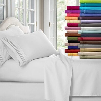 Ultra Soft Brushed Microfiber 4 Piece 1800 Series Deep Pocket Bed Sheet Set
