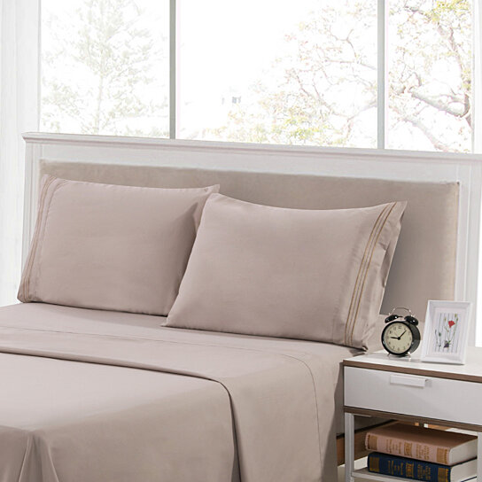 Buy Lux Decor Collection   HIGHEST QUALITY Brushed Microfiber   4 Piece  1800 Series Bed Sheet Set Deep Pocket Bed Sheet Set By Lux Decor Collection  On ...