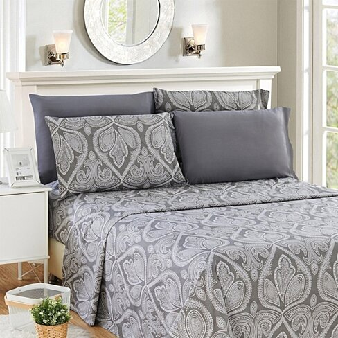 Paisley Printed - Deep Pocket Premier Microfiber 6 Piece Bed Sheet set