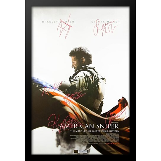 Buy American Sniper Autographed Signed Movie Poster in Wood Frame ...