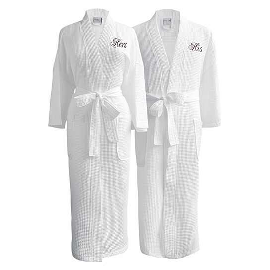 3fd2cf0844 Buy Luxor Linens Egyptian Cotton Waffle Weave Couple Robe Perfect Wedding  Gift! by Luxor Linens on OpenSky