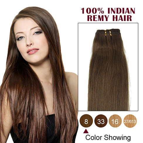 18 ash brown 8 straight indian remy hair wefts by