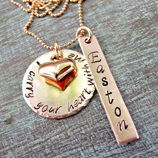 Buy Personalized Gold Remembrance Necklace With Name I