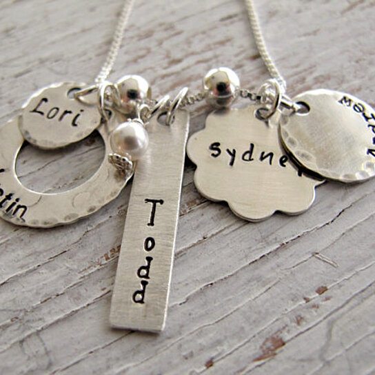 buy sterling silver personalized grandma necklace hand stamped