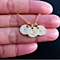 14K Gold Plated Three Initials Monogram Discs Necklace