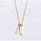 18K Gold Plated 3 Bars Charm Pendant Necklace