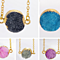 GOLD PLATED AMETHYST DRUZY PENDANT NECKLACE