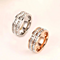 TITANIUM STEEL ROSE GOLD PLATED SILVER PLATED RHINESTONE RING