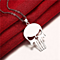 Unisex Stainless Steel Skull Necklaces Pair