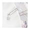 18K WHITE GOLD PLATED CUBE CRYSTAL NECKLACE