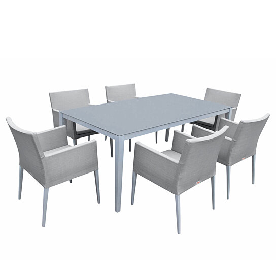 Buy Parisia New Aluminum Gray Frosted Glass 7-Piece