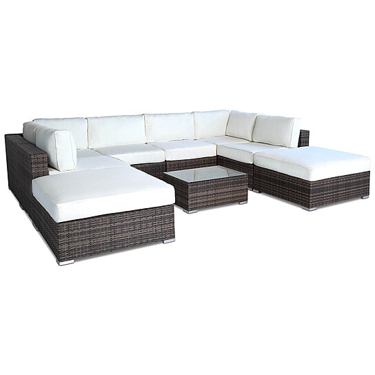 Vilano 9-Pc Outdoor Patio Sectional Sofa Set