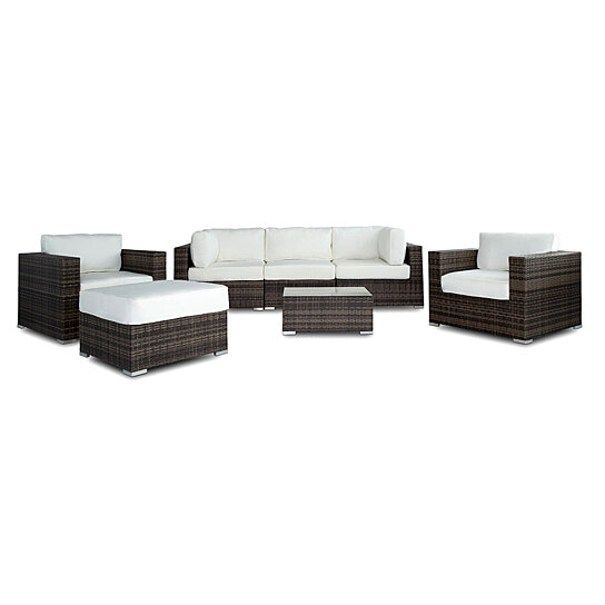 Outstanding Vilano Gold 7 Pc Outdoor Patio Wicker Sofa Sectional Set Unemploymentrelief Wooden Chair Designs For Living Room Unemploymentrelieforg