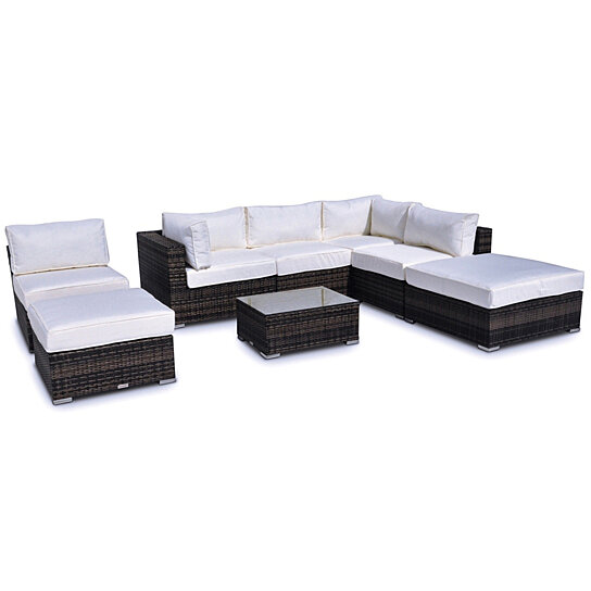 Milano 8-Pc Outdoor Patio Furniture Sofa Sectional Set
